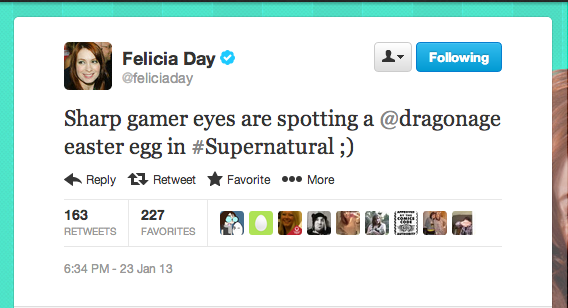 """Geek & Sundry's Felicia Day made an appearance on Supernatural this week in """"LARP and the Real Girl."""""""