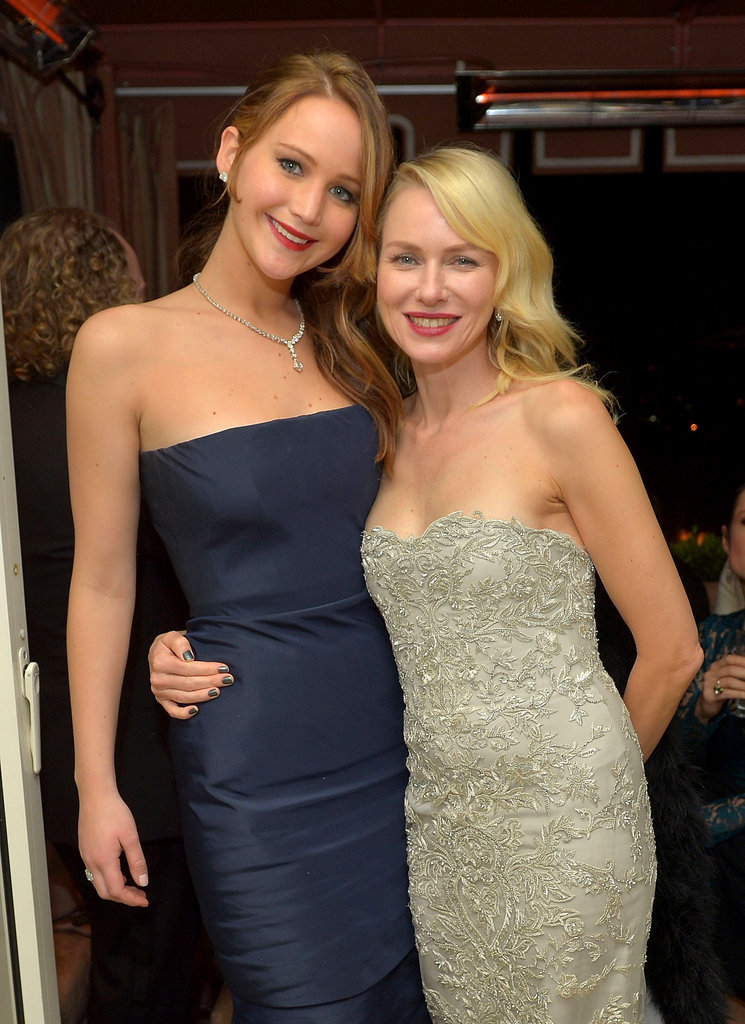 Jennifer Lawrence linked up with Naomi Watts backstage at the SAG Awards.