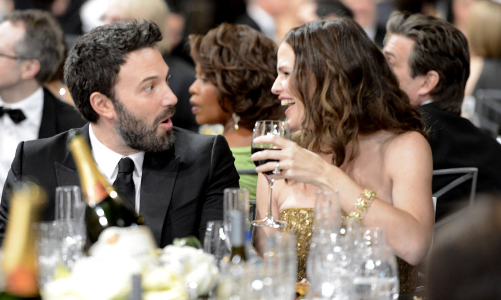 Jennifer Garner and Ben Affleck laughed while watching the SAG Awards from the audience in January 2013.