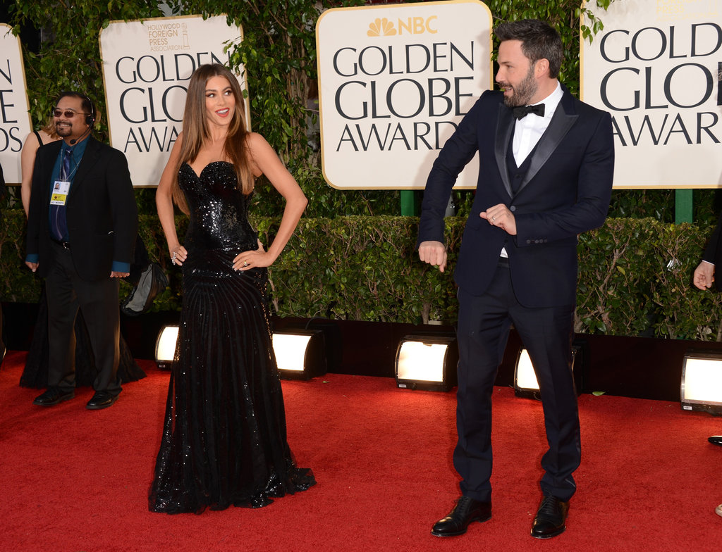 Ben Affleck got goofy on the red carpet at the Globes with Sofia Vergara.