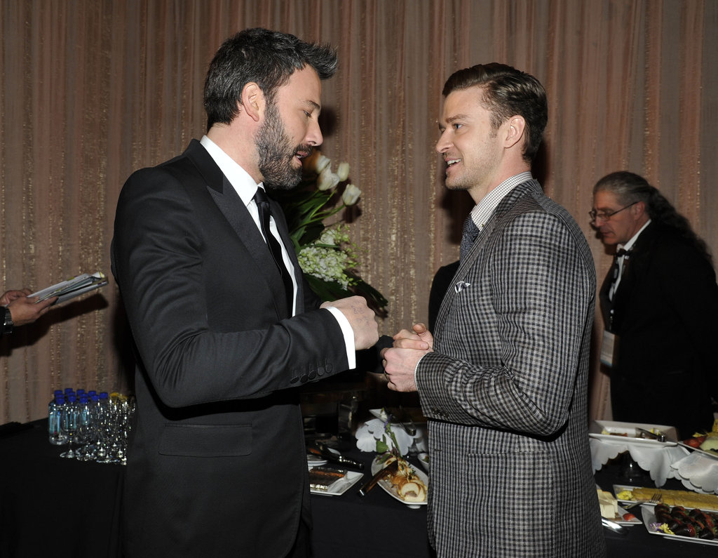 Ben Affleck spent a moment backstage at the SAGs with presenter Justin Timberlake.