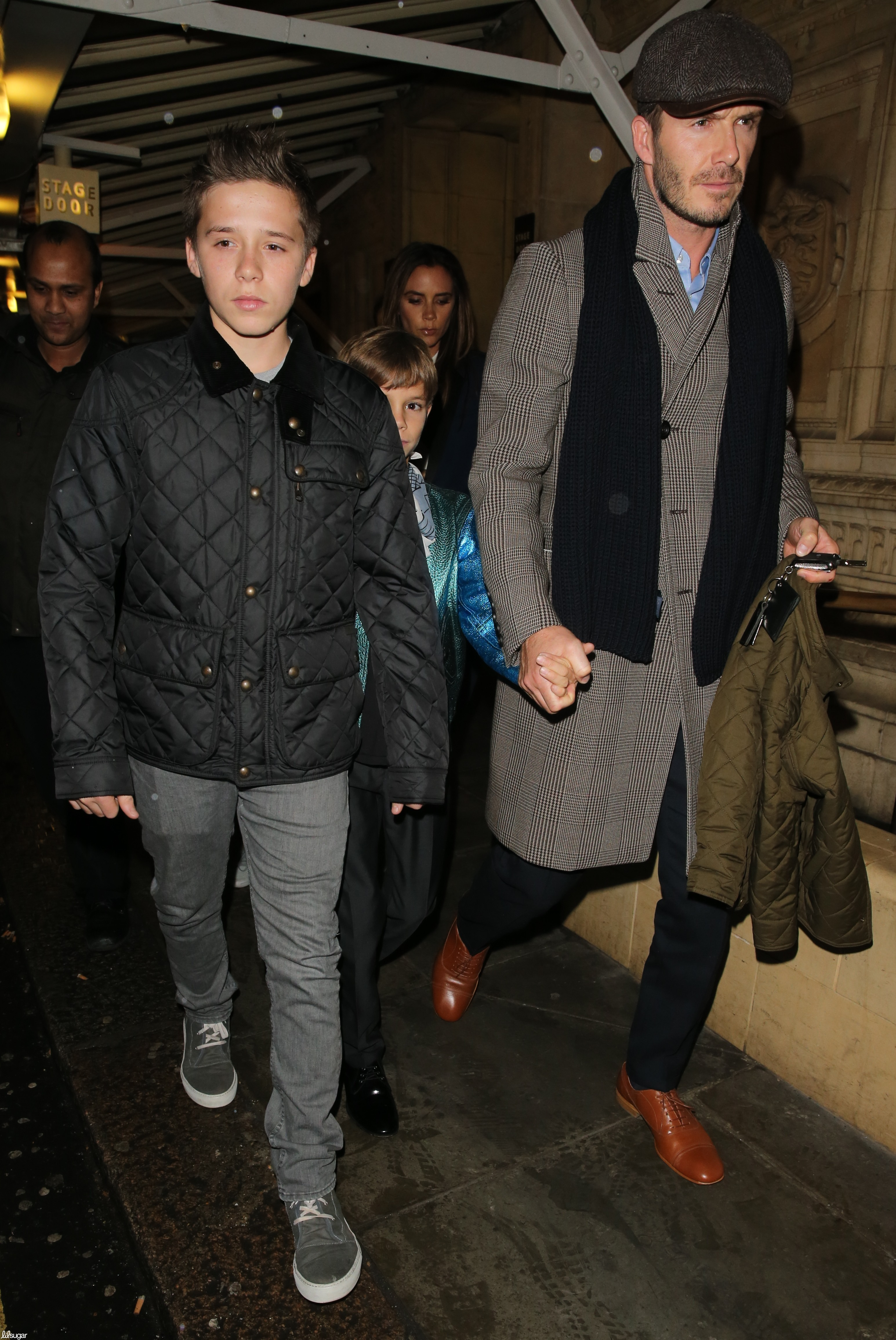 Victoria Beckham and David Beckham saw a Cirque du Soleil show in London on Saturday with Brooklyn Beckham, Cruz Beckham, and Romeo Beckham.
