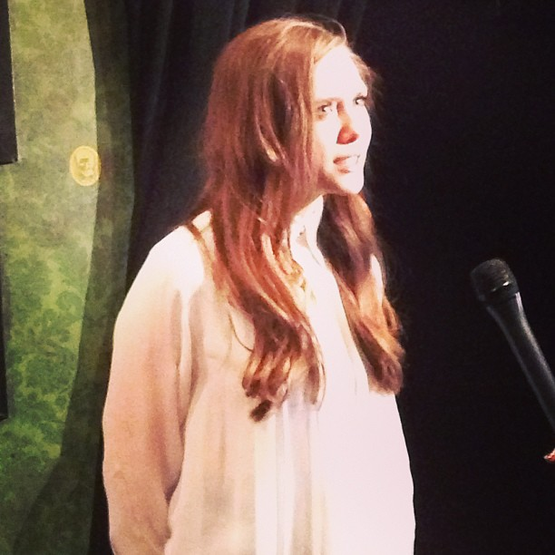 Elizabeth Olsen came out to promote Very Good Girls.