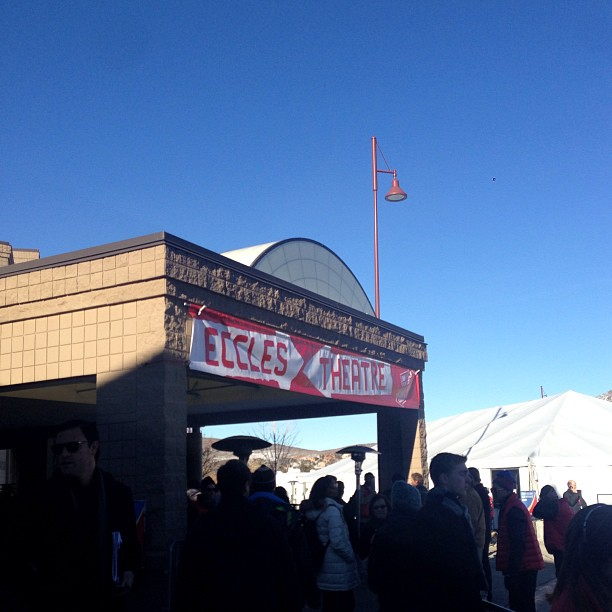 The lines were long and the temperatures were cold, but it's hard to complain about sunny blue skies in Park City.