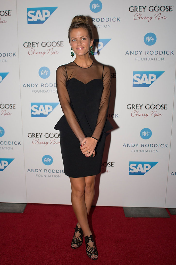 For the 7th Annual Andy Roddick Foundation gala in Austin, Brooklyn Decker toughened up her black peplum Stella McCartney dress with Nicholas Kirkwood cutout heels, the same one's Miranda Kerr wore with her Peter Pilotto dress.