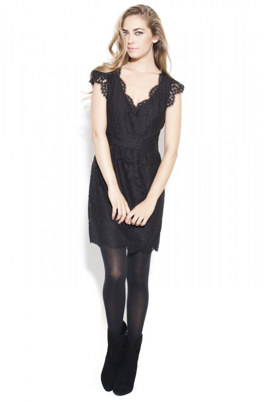 Need a Valentine's Day dress? This sweet Joie Lebanon lace dress ($98, originally $348), with special code EXTRA60POP, should do the trick.