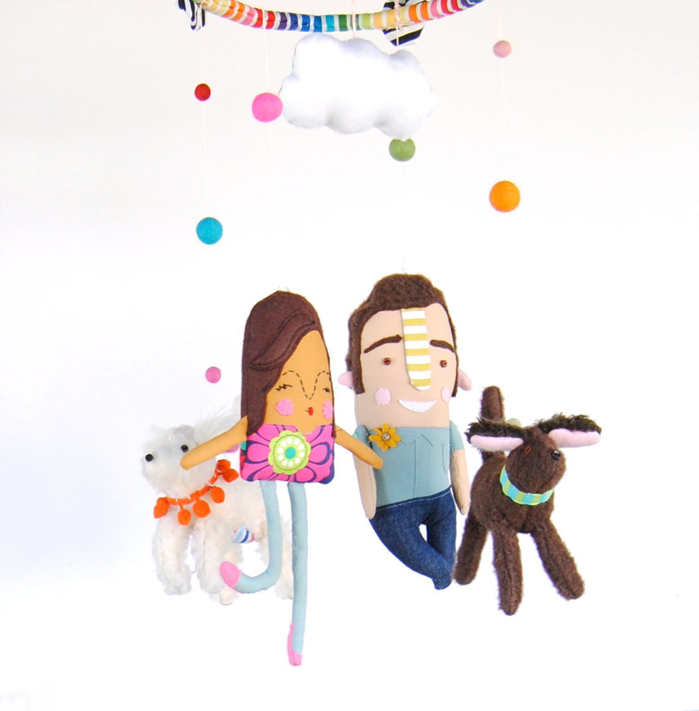 Pink Cheeks Studios Personalized Baby Mobile