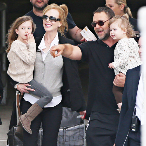 Nicole Kidman With Russell Crowe, Keith Urban, and Kids