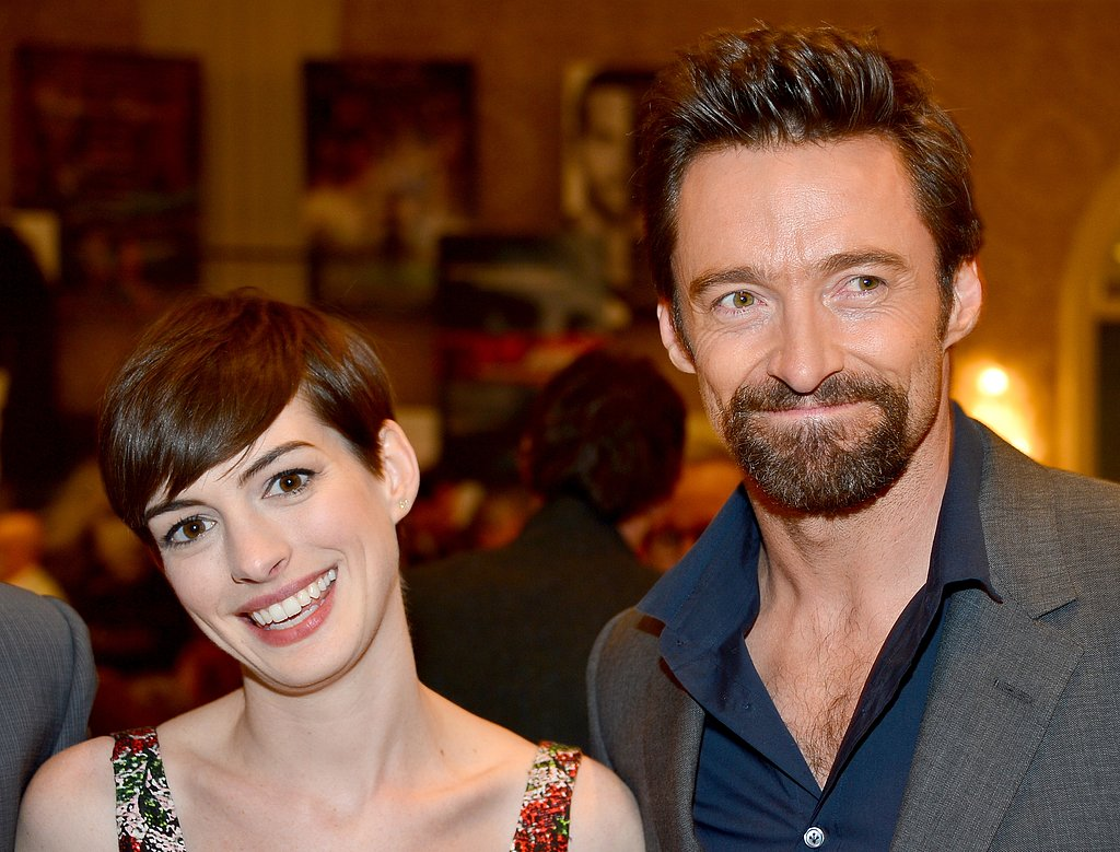 Anne Hathaway posed with Hugh Jackman at the AFI Awards.