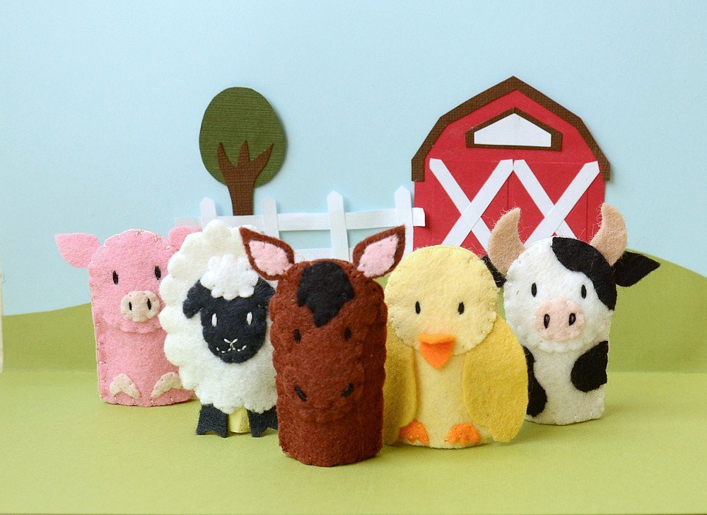 Stay Awake Friendly Farm Animal Finger Puppets