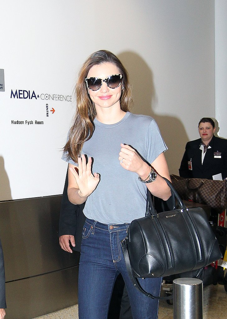 Miranda Kerr Jets Into Sydney Ahead of DJ's Fashion Launch