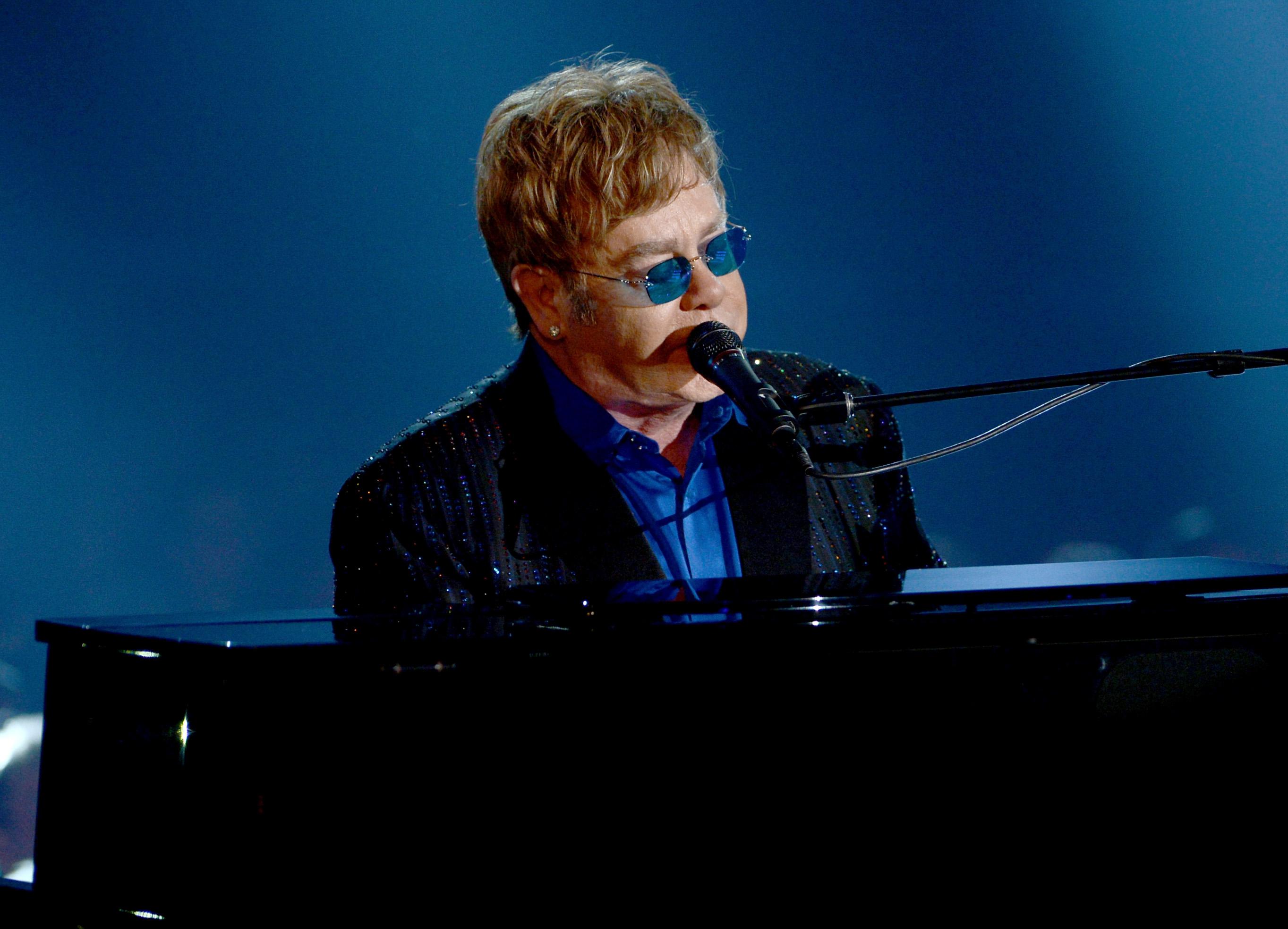Elton John performed during the show.
