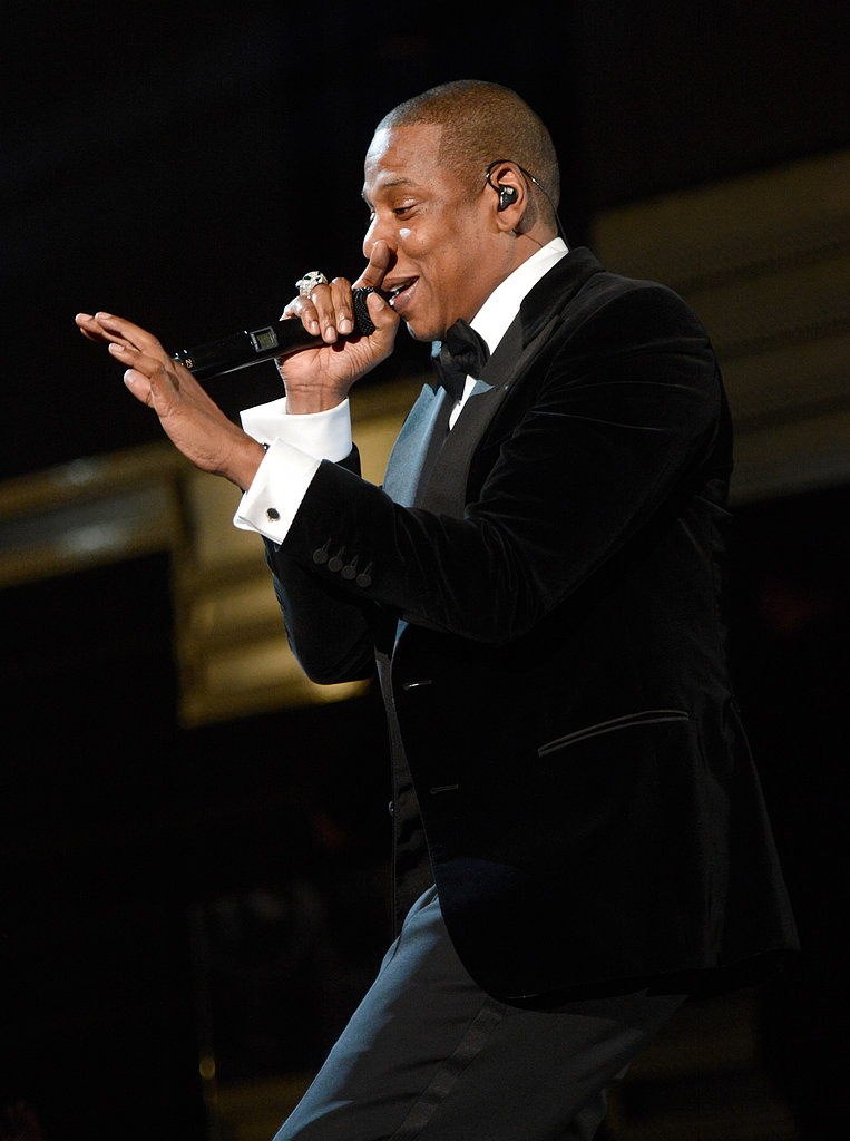 Jay Z performed at the Grammys.