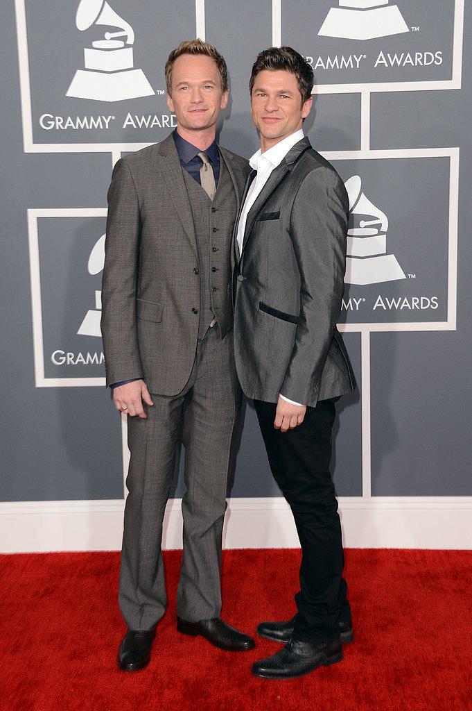 Neil Patrick Harris and David Burtka hit the Grammys red carpet together.