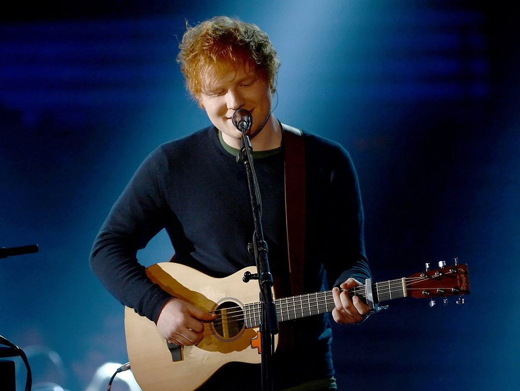 Ed Sheeran played for the audience.