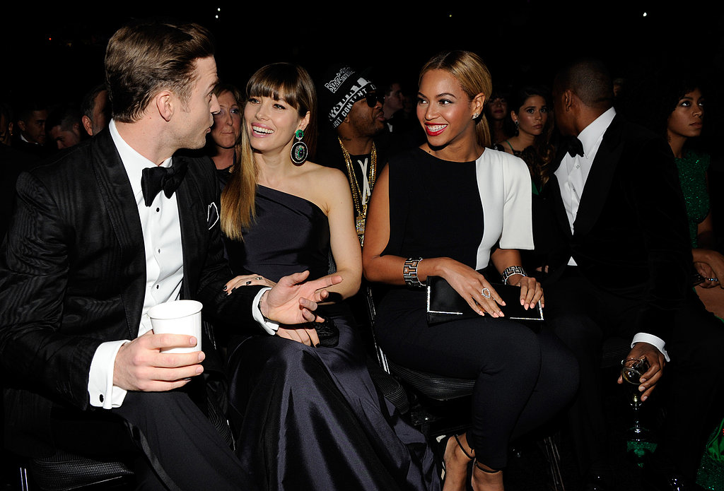 JT and Jessica Drink and Mingle With Beyoncé and Jay-Z at the Grammys