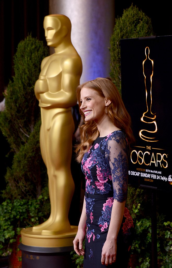 Jessica Chastain is nominated for best performance by an actress in a leading role for her work in Zero Dark Thirty.