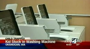 Quick-thinking Mom Rescues Her 5-Year-Old from a Washing Machine