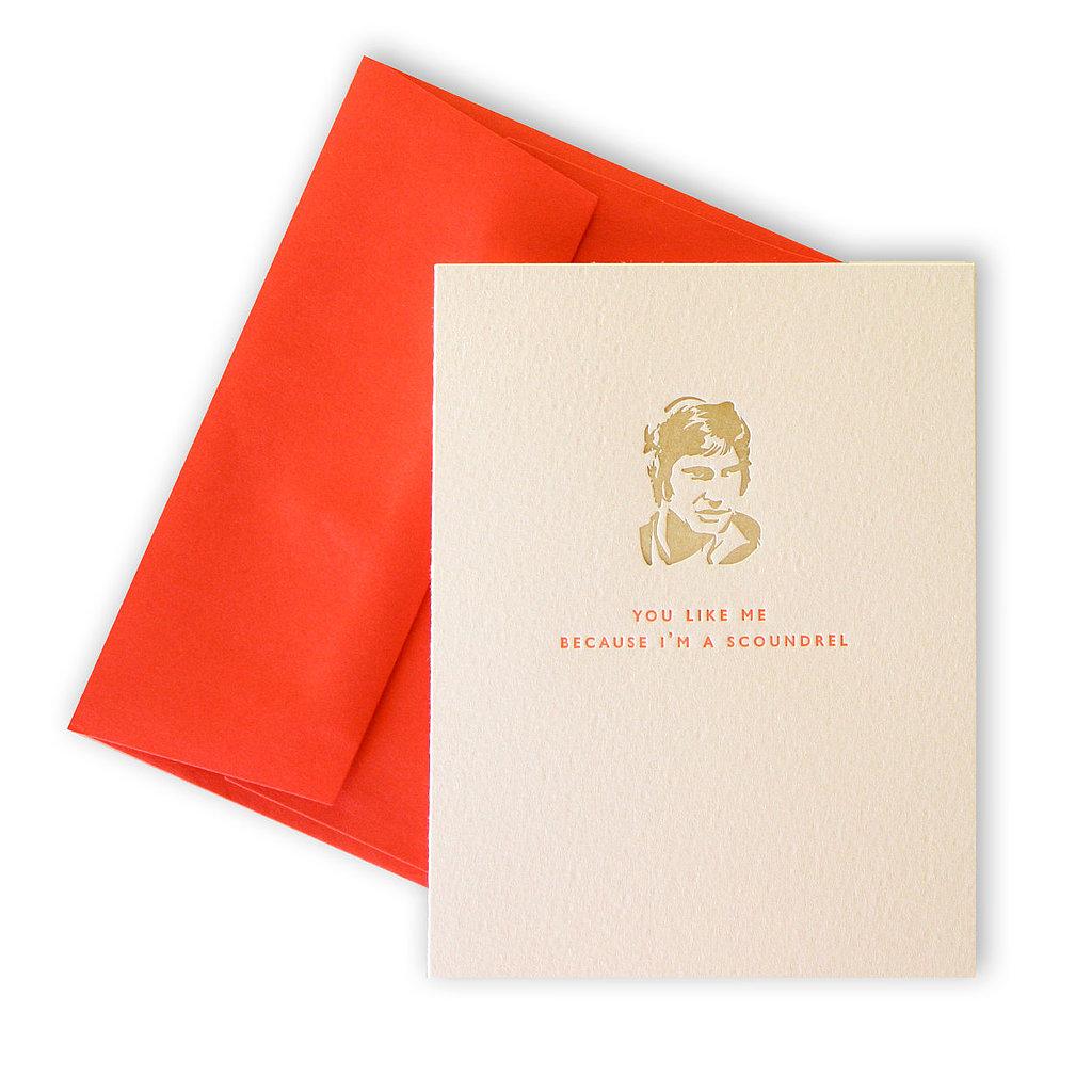 Han Solo Letterpress Card