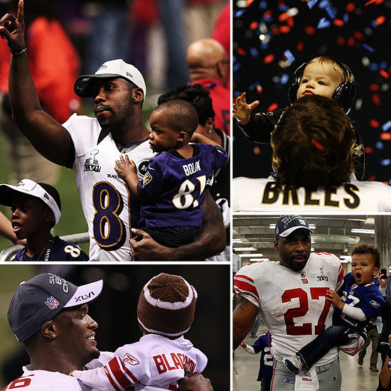 Super Bowl Super Dads: Hit the Field With the NFL's Cutest Kids