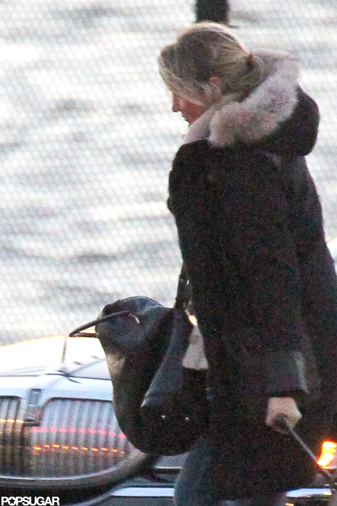 Cameron Diaz walked to a waiting helicopter in NYC.
