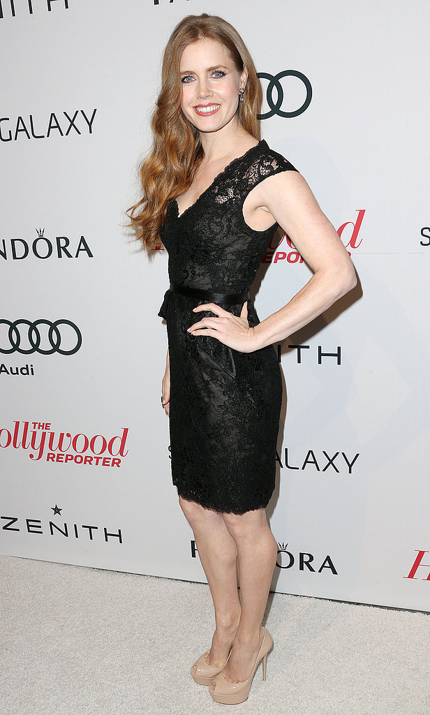 Amy Adams arrived at Spago for the event.