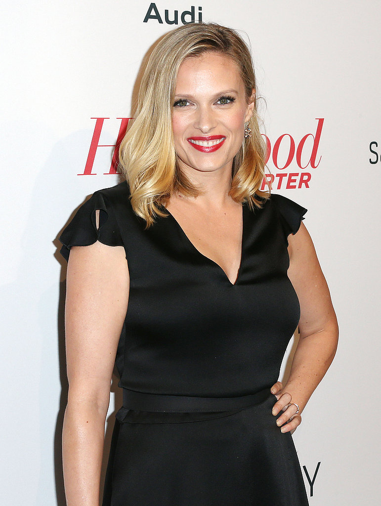 Vanessa Shaw wore a red lip shade.