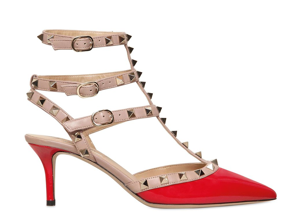 No, we are nowhere near tired of the Valentino rockstud pump ($945), and to prove our point, we're looking to this red and pink kitten heel version for yet another gorgeous spin on the now-iconic silhouette.