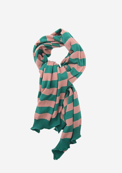 Knitted Striped Scarf ($93)