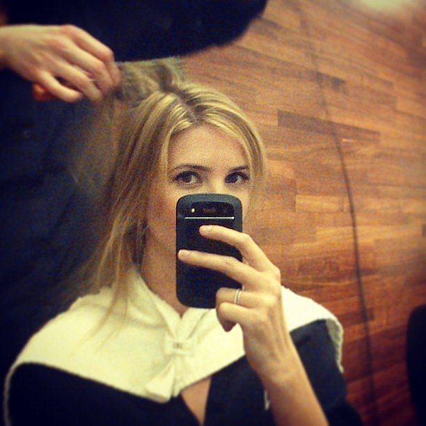 Ivanka Trump shared photos from the hairstylist's chair. Source: Twitter user IvankaTrump