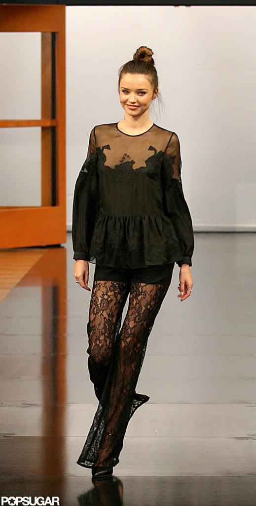 Miranda Kerr Models Australian Designs Down Under For David Jones