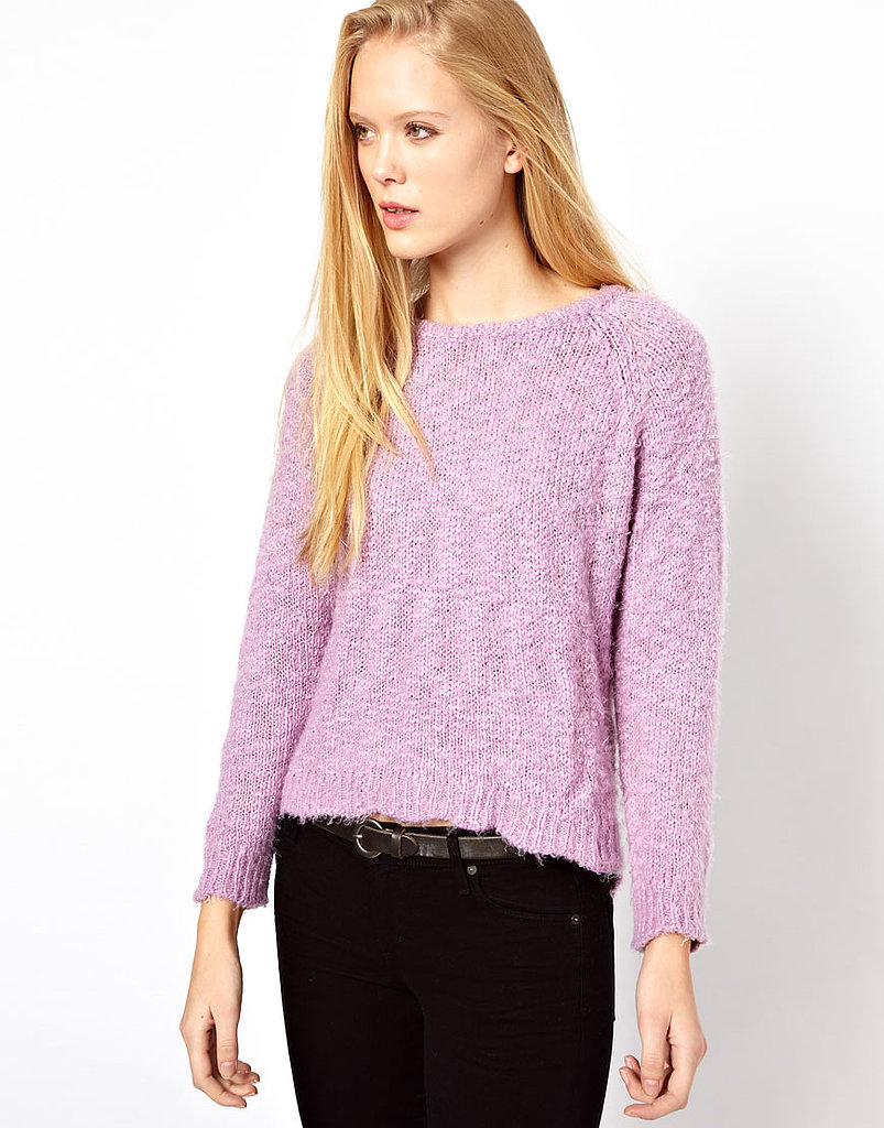 This cheery lavender Ganni Sweater With Dipped Hem ($174) is a great way to mix some Spring colors in with your Winter wardrobe.
