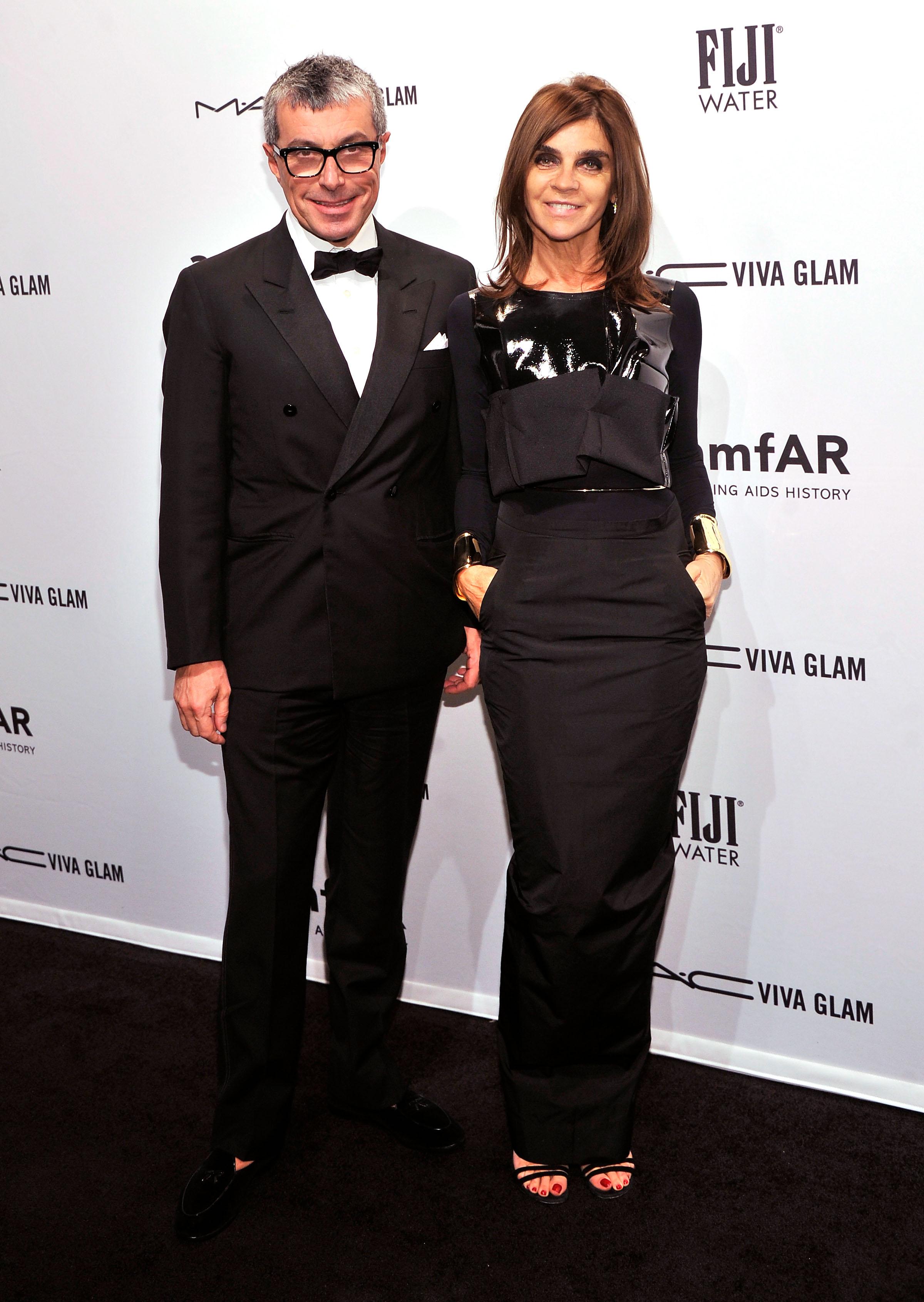 Giorgio Guidotti and Carine Roitfeld