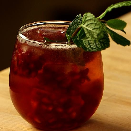 Ginger, Mint, and Pomegranate Cocktail