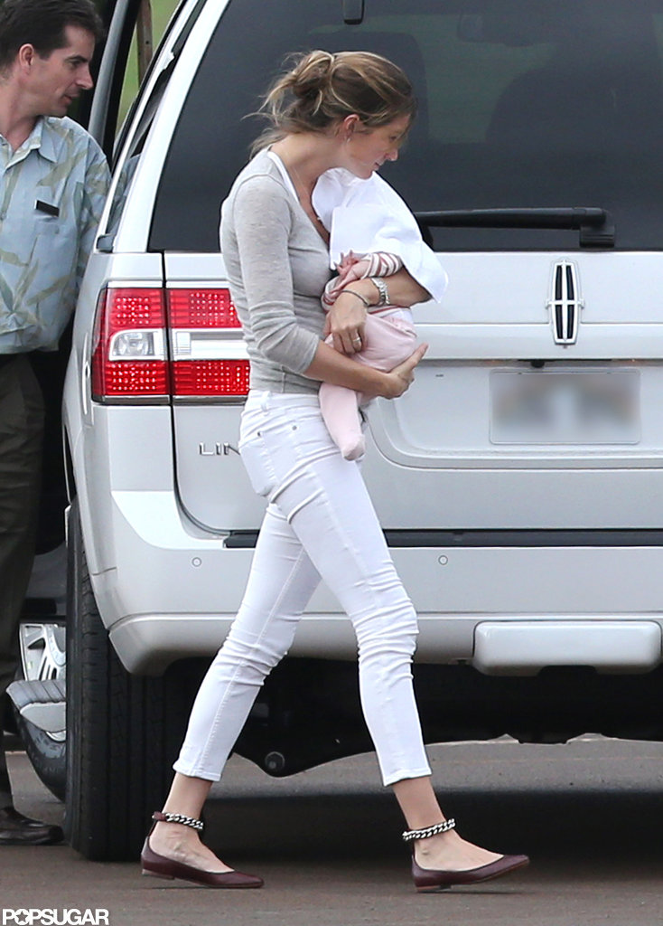 Baby Vivian made her first outing with mom Gisele Bündchen since her birth in December.