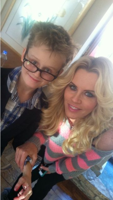 Jenny McCarthy was missing her son, Evan, during some work travel. Source: Twitter user JennyMcCarthy