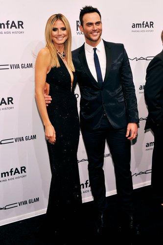 Heidi Klum smiled with Cheyenne Jackson in February at the amfAR New York Gala.