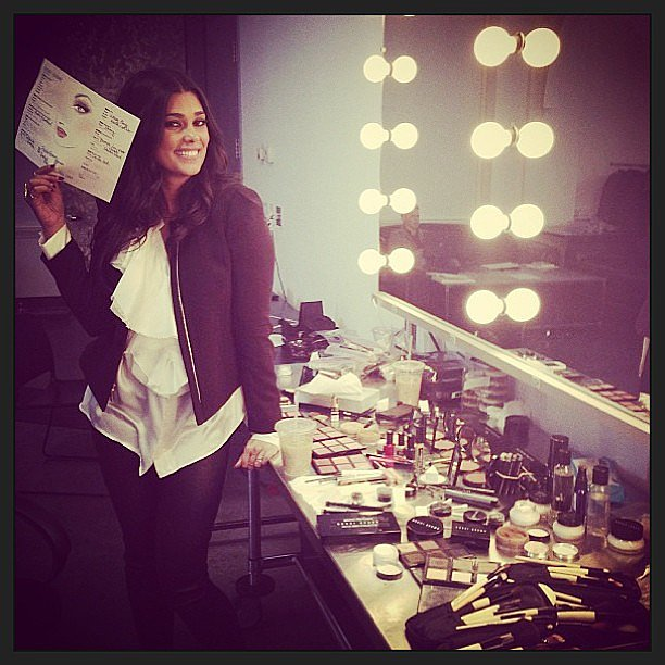 Rachel Roy shared a sneak peek of the makeup look for her upcoming runway show. Source: Instagram user rachel_roy