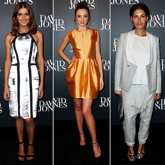 See All the Celebrity Arrival Style from the David Jones A/W Fashion Launch