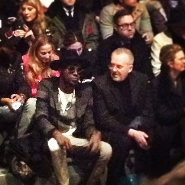 Spotted: Theophilus London at Richard Chai Love.
