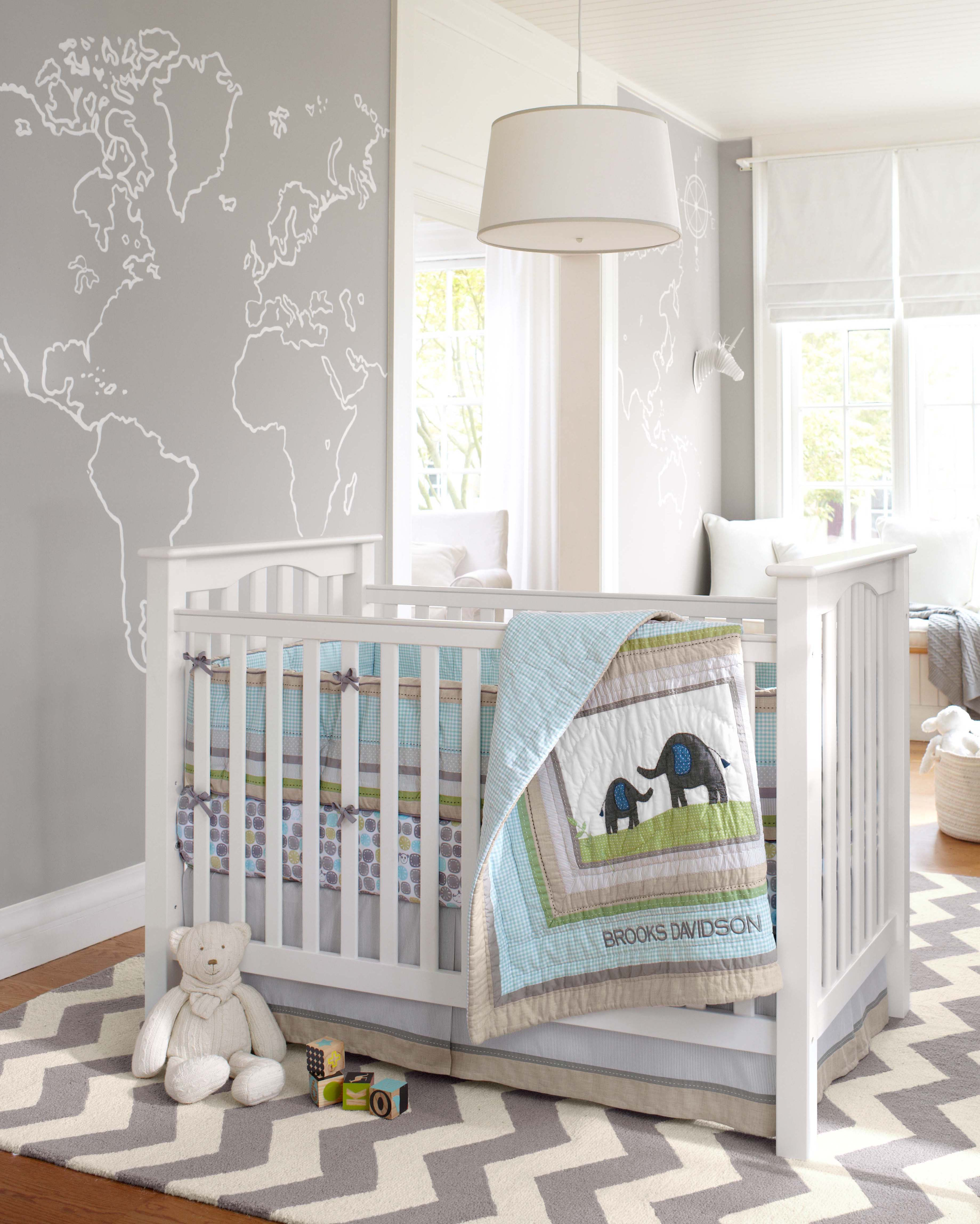 The gender neutral brooks nursery collection is a sweet for Chambre gender