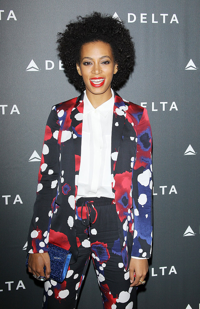 Solange Knowles at Delta's Grammys Preparty
