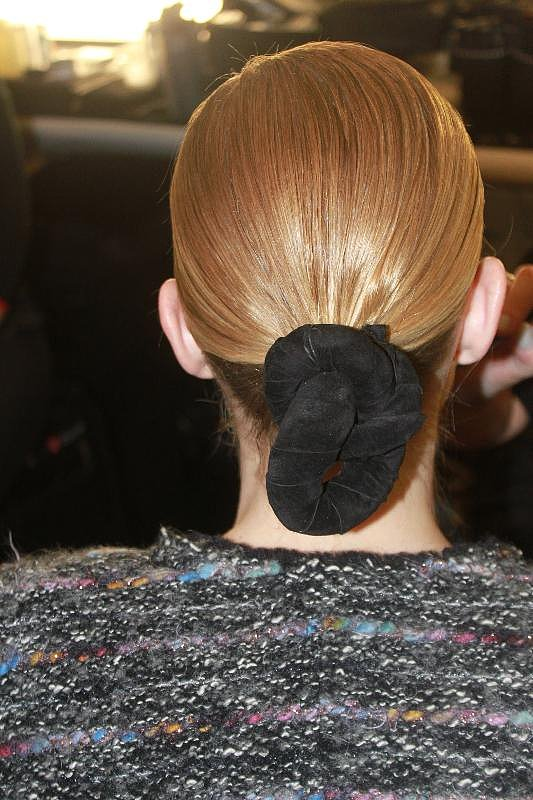 """""""We wanted something pure, but not just a ponytail. We wanted a touch of sophistication, and the knot was like the final touch,"""" Gilbert said. """"It's a bit like a boat knot in a way."""""""