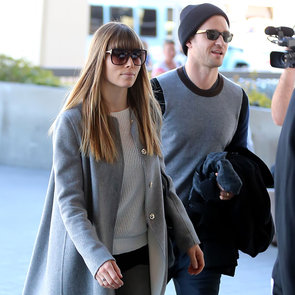 Justin Timberlake and Jessica Biel Fly Out of LAX Together