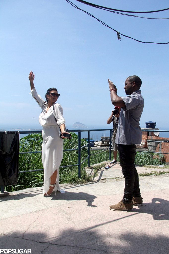 Kanye snapped pictures of Kim while the two vacationed together in Brazil in February 2013.