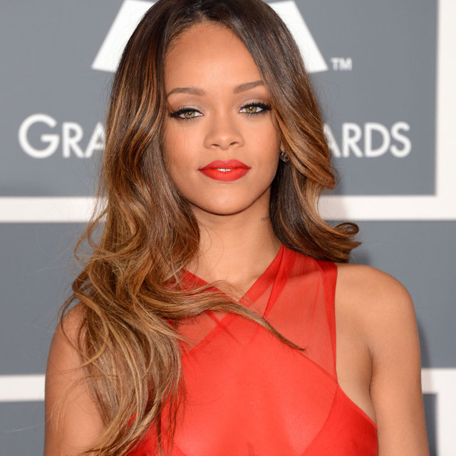 Pictures of Rihanna at the 2013 Grammy Awards