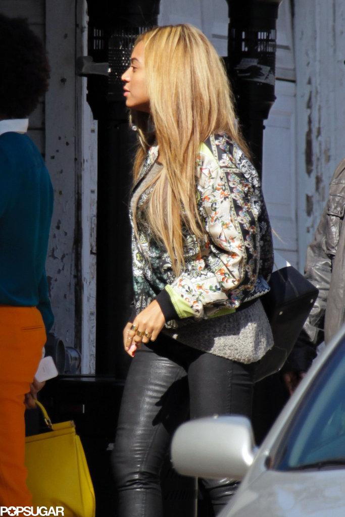 Beyoncé showed off her blond hair in LA.