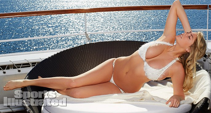 Kate Upton flaunted her curves in Antarctica.