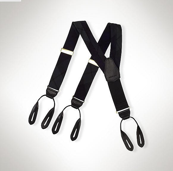 Stylish but practical, these black suspenders ($65) will keep him looking spiffy all day and all night.