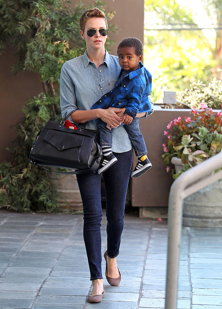 Charlize Theron took her son, Jackson, to a children